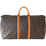 Authentic Vintage Louis Vuitton Keepall Bandouliere 55 Duffle Bag