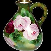 RARE Unusual Austrian Porcelain Vase Jug Signed P Denor Marked and Numbered