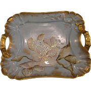 Antique Limoges Porcelain Serving Tray 125 years old and Signed!