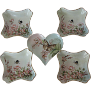 Ester Miler Heart Dish Set Limoges Porcelain
