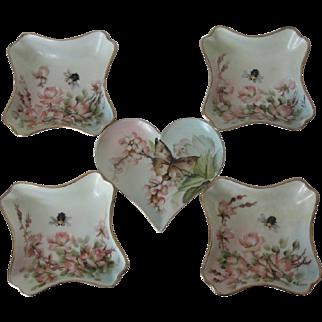 Ester Miler Heart Dish Set Limoges Porcelain