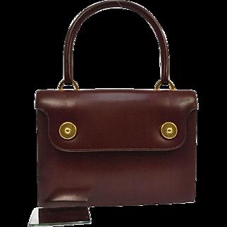 Authentic Vintage Hermes Oxblood Leather Satchel Bag