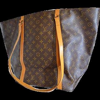 Vintage Authentic Louis Vuitton Shopping Sac Tote Bag