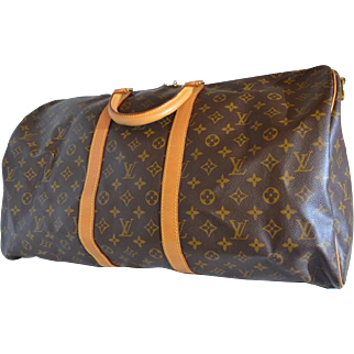 Louis Vuitton Keepall Bandouliere 55 Monogram Duffle Bag with strap