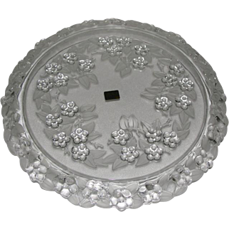 Mikasa Crystal Carmen Walther Glass Crystal Cake Plate In Box Made in West Germany