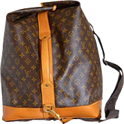 Vintage Louis Vuitton Sac Marine Monogram Duffle Bag Cross Body RARE