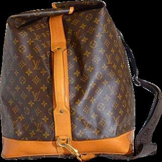 Vintage Louis Vuitton Sac Marine Monogram Duffle Bag Cross Body RARE