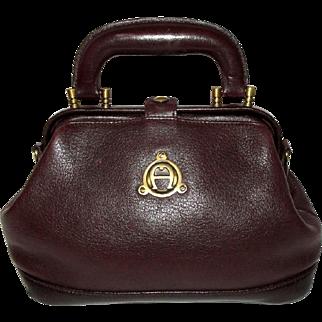 Vintage Etienne Aigner Oxblood Leather Mini Satchel Bag