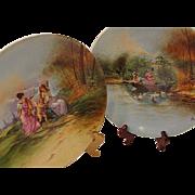 Limoges Porcelain Charger Plates Signed A Luc