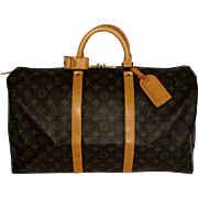 Authentic Vintage Louis Vuitton Keepall 50 Travel Weekend Bag