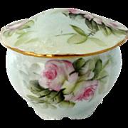 Ester Miler Porcelain Round Trinket Box Covered Signed