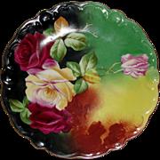 Limoges Porcelain LRL Plate Artist Signed