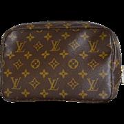 Authentic Vintage Louis Vuitton Toiletry Cosmetic Bag