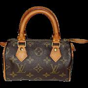 Vintage Authentic Louis Vuitton Mini Speedy Bag
