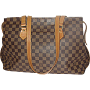 Vintage Authentic Anniversary Louis Vuitton Columbine Shoulder Bag Damier Canvas