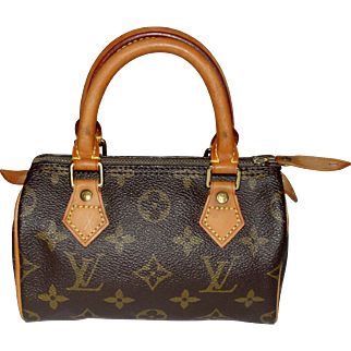 Vintage Authentic Louis Vuitton Mini Speedy Bag