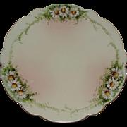 RARE Ester Miler Signed Daisy Plate Porcelain Limoges T&V