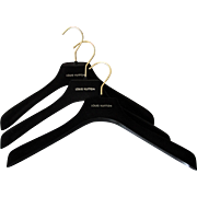 Vintage Louis Vuitton Felt Garment Hangers Set of Three