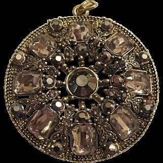 Vintage Nina Ricci Crystal Pendant