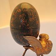 Thimble Holder Eagles Egg - Edwardian