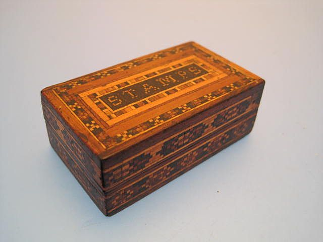 Stamp Box in Tunbridge Ware - Victorian