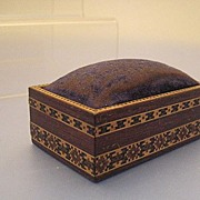 Pin Box/Cushion in Tunbridgeware - Victorian