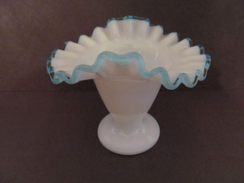 Fenton Aqua Crest Tulip Vase #36