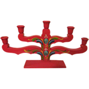 Swedish Wood Candelabra, Candle Holder