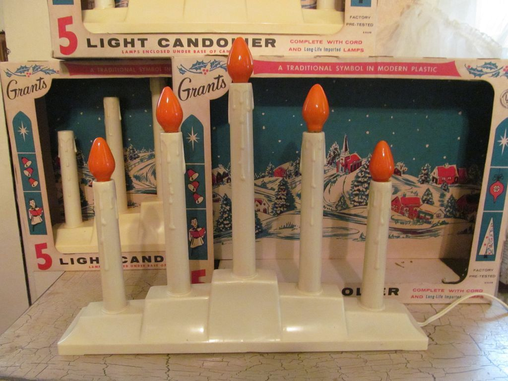 3 WT Grants 5 Light Christmas Candelabras with Boxes