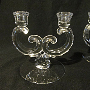 Fostoria Century Double Candle Holders, Set