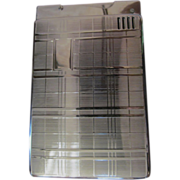 Chrome Lido Automatic Lighter, Cigarette Case