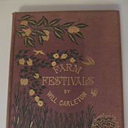 1881 Farm Festival by Poet Will Carleton, Harper & Brothers