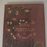 1881 Farm Festival by Poet Will Carleton, Harper & Brothers