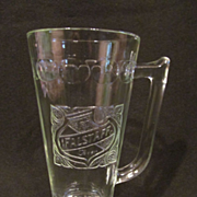 Advertising Falstaff Beer Mug, Thumbprint Pattern