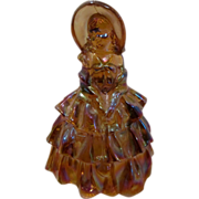 Wheaton Marigold Carnival Glass Southern Belle Lady Figurine