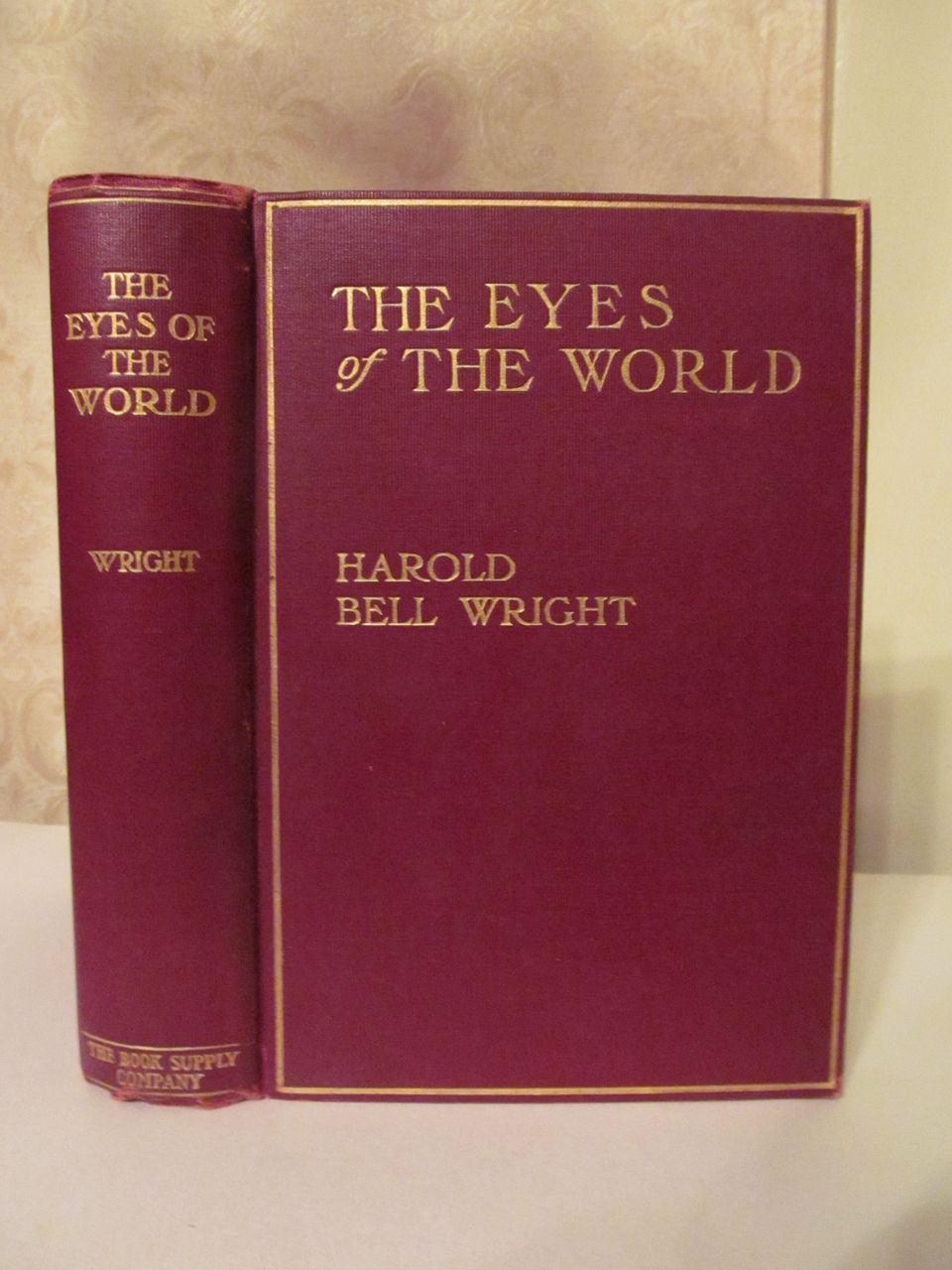 1914 The Eyes of the World by Harold Bell Wright, Illustrated, Publ The Book Supply Company