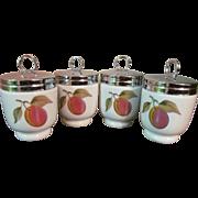 4 Royal Worcester Porcelain Egg Coddlers, England