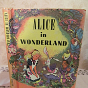 1952 Alice in Wonderland by Lewis Carroll, Pixie Book, Over 100 Illustrations by Lewis Carroll, Pub by John C Winston Company