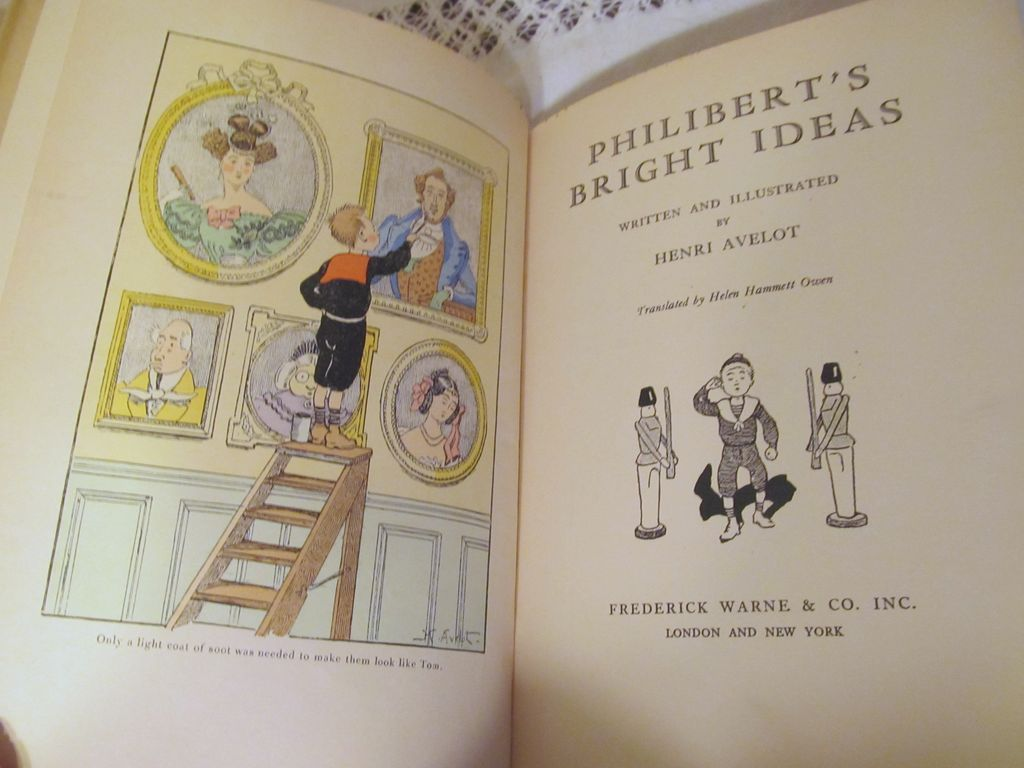 1932 Philibert's Bright Ideas by Henri Avelot, Illustrated, Dust Jacket, Publ Frederick Warne & Co Inc
