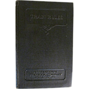 1936 Train Rules by C E Collingwood, New York Central Railroad Company, Publ International Textbook Company