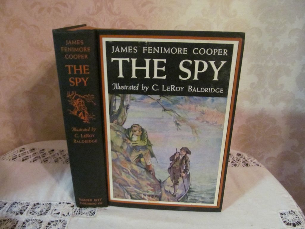 1924 The Spy by James Fenimore Cooper, Illustrated, Publ Garden City Publishing Co Inc