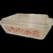 Pyrex Pink Gooseberry 1 1/2qt, #503 Refrigerator Dish