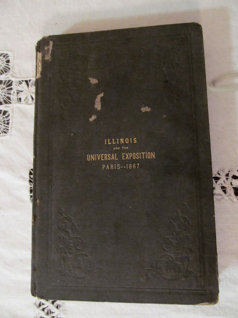 State of Illinois and the Universal Exposition of 1867, Paris France.. Fold Out Map, Illustrated, by John P Reynolds,