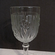 "Iris & Herringbone 5 3/4"" Goblet by Jeannette + 1 More"