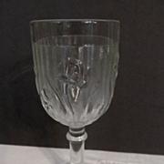 """Iris & Herringbone 5 3/4"""" Goblet by Jeannette + 1 More"""