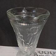 """Iris & Herringbone 9"""" Vase by Jeannette"""