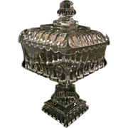 """EAPG Adams Crystal Wedding 13 1/4"""" Covered Compote"""
