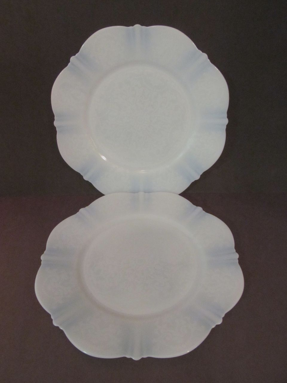 "2 American Sweetheart Monax 8"" Plates, Center Pattern..MacBeth Evans + 2 More"