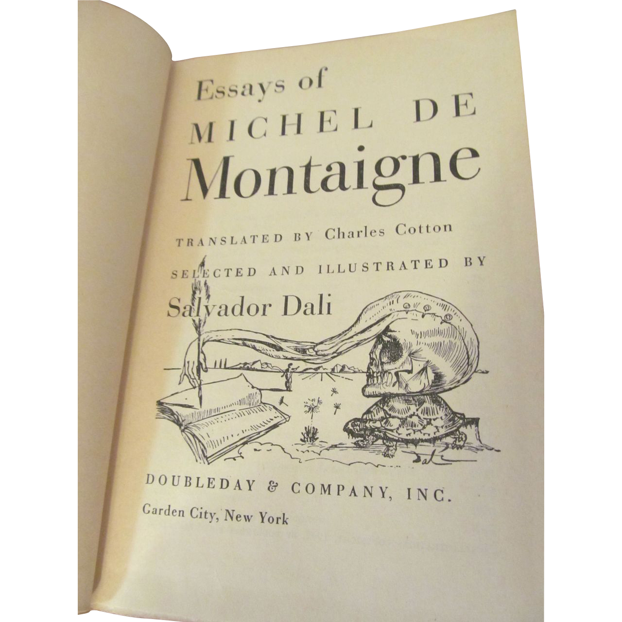 essays of michel de montaigne illustrated by salvador dali  1947 essays of michel de montaigne illustrated by salvador dali from prairieland on ruby lane