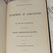 1875 Transactions of the Department of Agriculture of the State of Illinois County Agricultural Boards for the Year 1874, Publ State Journal Steam Print